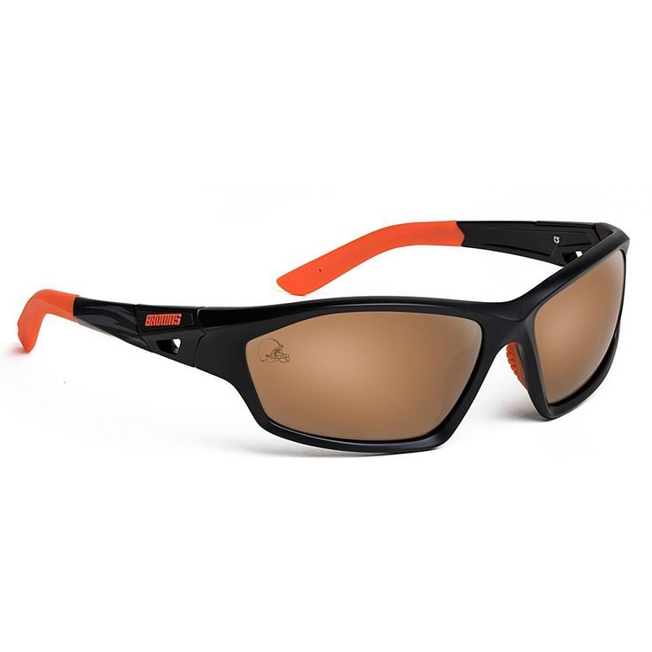 "Officially Licensed NFL ""Lateral"" Sunglasses with 360-Degree Bendable Arm Technology by Eye Ojo - Browns"
