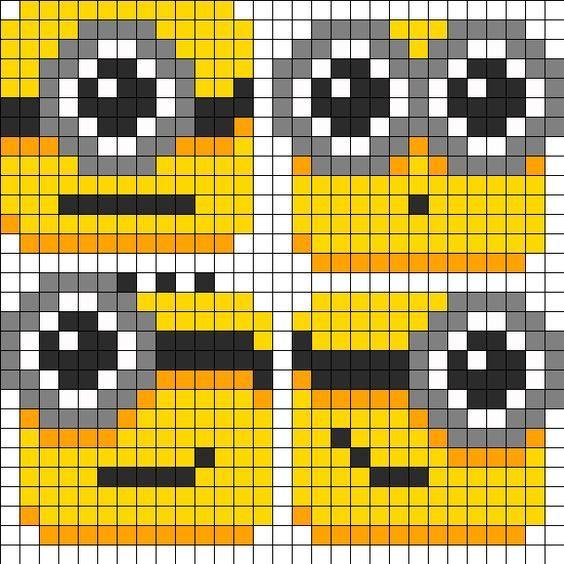 Minions Perler Bead Pattern: