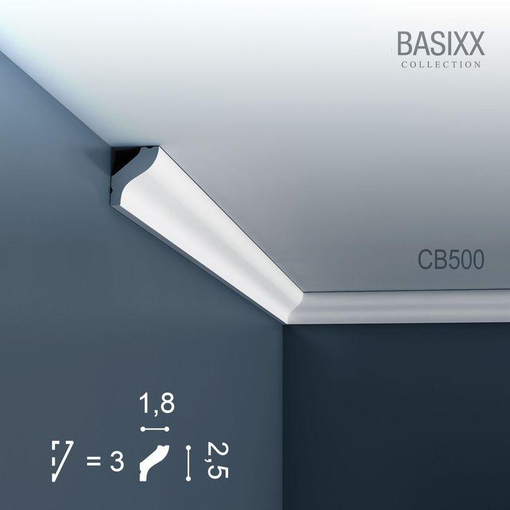 Orac Decor CB500 BASIXX Zierprofil Zierleiste Stuck-Leiste Eckleiste Dekor-Element Wand-Leiste Decken-Leiste | 2 Meter: Amazon.de: Küche & Haushalt