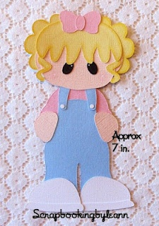 Girl Overalls Paper Piecing