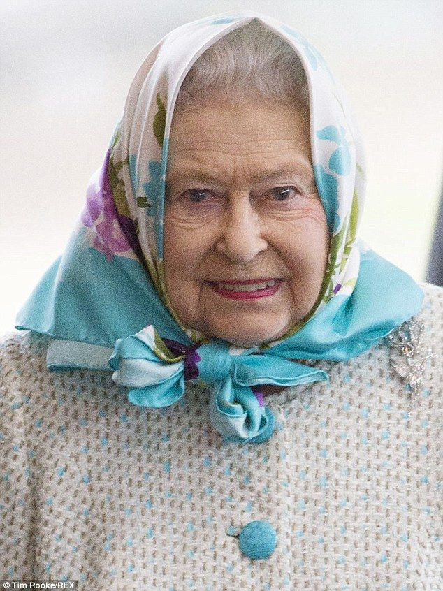 Christmas holiday: The Queen arrives at Kings Lynn station en route to Sandringham...
