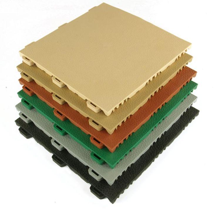 Home Gym Flooring Tiles - StayLock Orange Peel, Aerobic Gym Floors