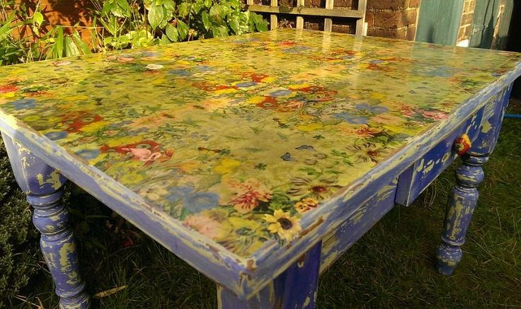 table top transformation napkin decoupage diy tutorial