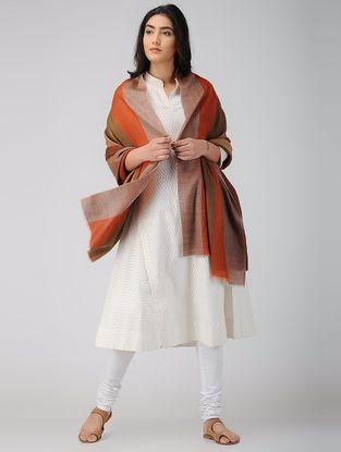 Orange-Brown Wool Shawl