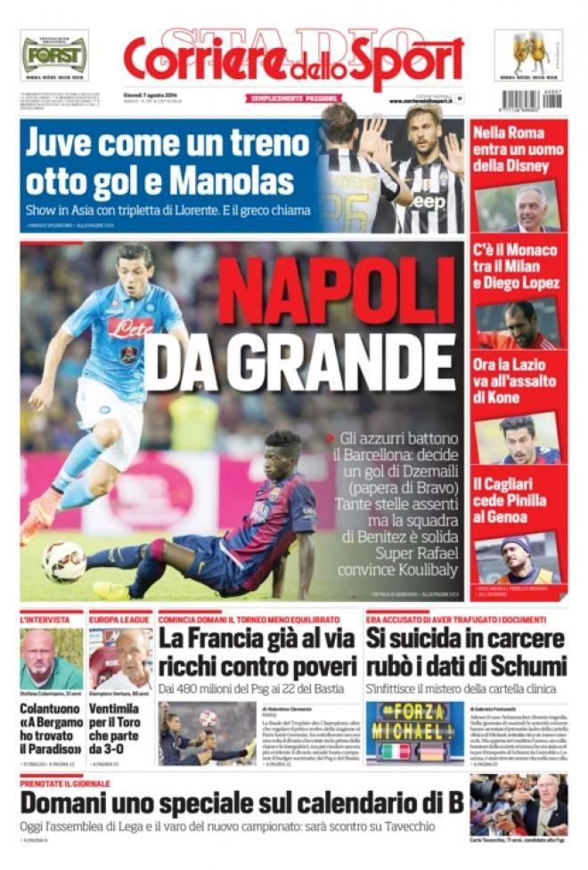 Quotidiani Sport 7 #Agosto #TuttoSport #As #Marca #Gazzetta #Romanista #Equipe #Corriere #MundoDeportivo