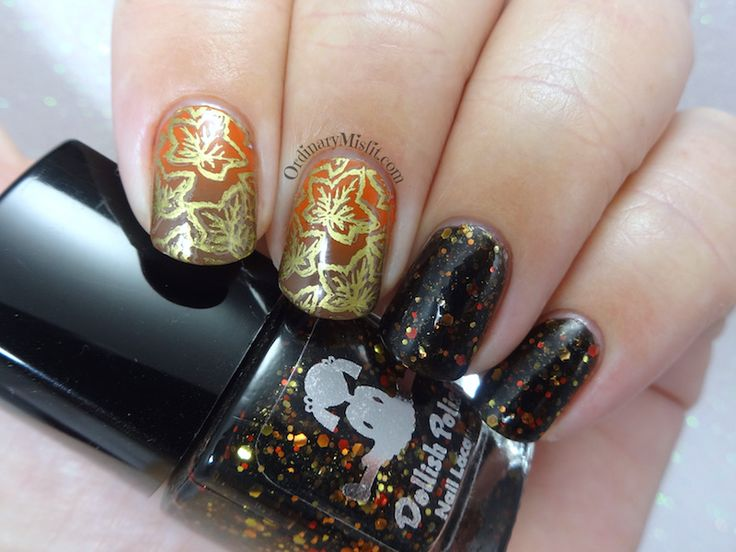 52 week nail art challenge - Week 14: Autumn
