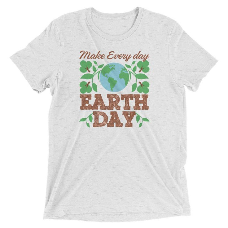 Excited to share the latest addition to my #etsy shop: Make Every Day Earth Day Recycle Conservation Men Short Sleeve T-Shirt http://etsy.me/2zFi6C6 #clothing #shirt #day #earth #recycle #conservation #planet #preserve #natural