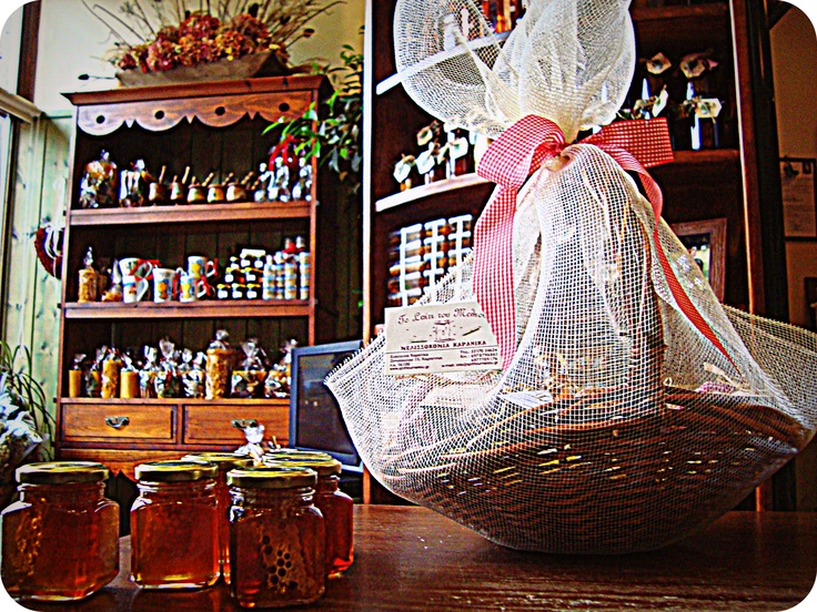basket with goodies....