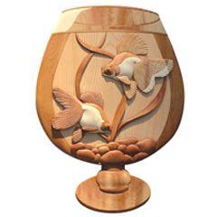 Goldfish Bowl Intarsia Pattern