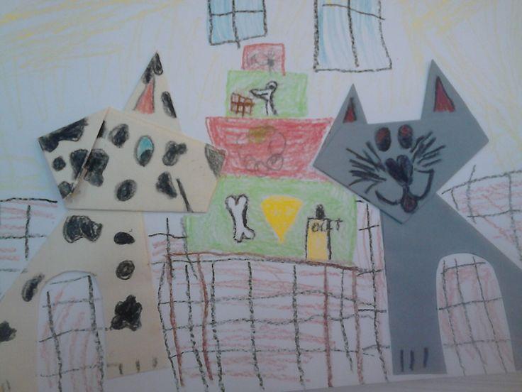 pejsek a kočička pekli dort