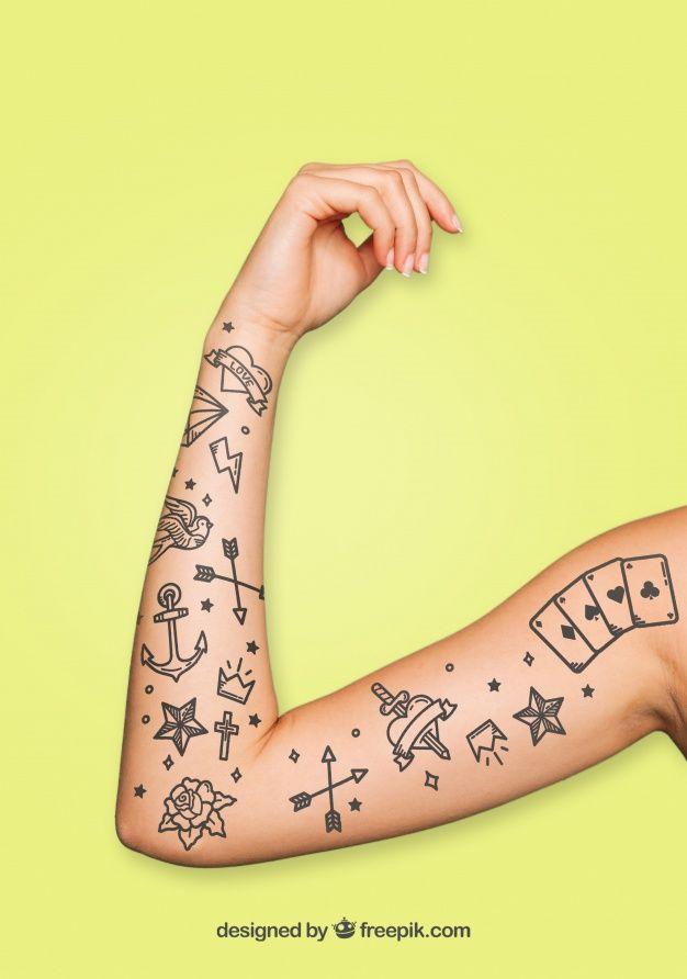 Arm tattoo mockup