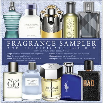 Love this gift idea from Shoppers Drug Mart! Sample 10 of the most sensational fragrances. Select the scent you like best. Submit your scent certificate for a full-size bottle of your favourite one.