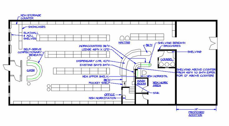 Pharmacy design plans pharmacies floor plans for Pharmacy design floor plans