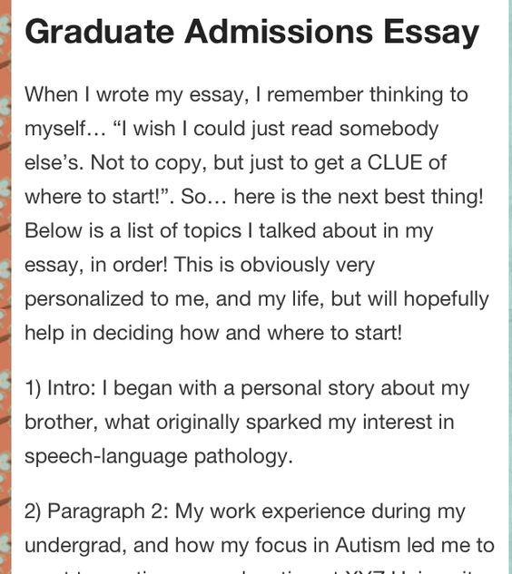 graduate school essay writing