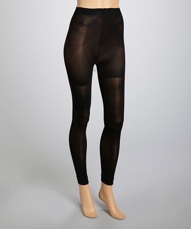 Take a look at this Black Footless Tights - Women & Plus by Dr Rey Shapewear on #zulily today!