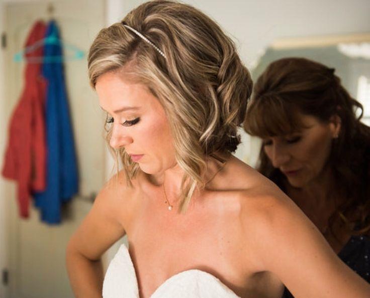 Short wedding hair, wedding bob, wedding lob, short half up wedding hair, short wedding curls
