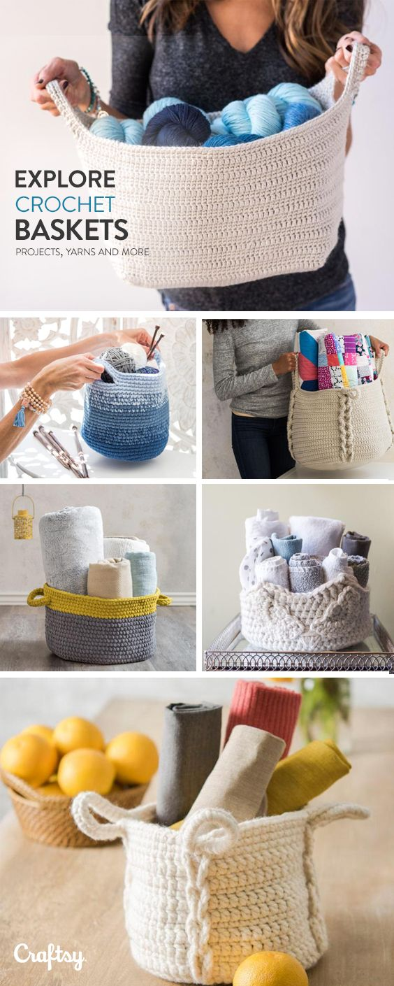 Explore crochet basket projects, yarns, videos and more!