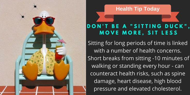 """Don't Be a """"Sitting Duck"""" Move More Sit Less"""