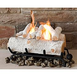 Create a warm and inviting look to your home without the soot and smoke by using this faux fireplace. Perfect for cozying up next to during the colder months!