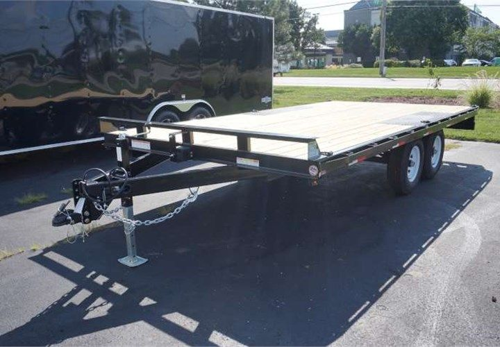 8 5 X 16 Deckover Trailer This Trailer Features All Led Lighting 32 Deck Height 8 Steel Fabricated Slide In Ramp Deck Over Trailer Trailer Trailer Build