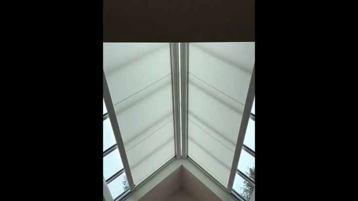 Need an electric blind for an Apex Roof, well take a look at this just installed by Radiant Blinds, the perfect solution