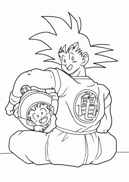 38 best coloriage images on pinterest dragon ball z drawings
