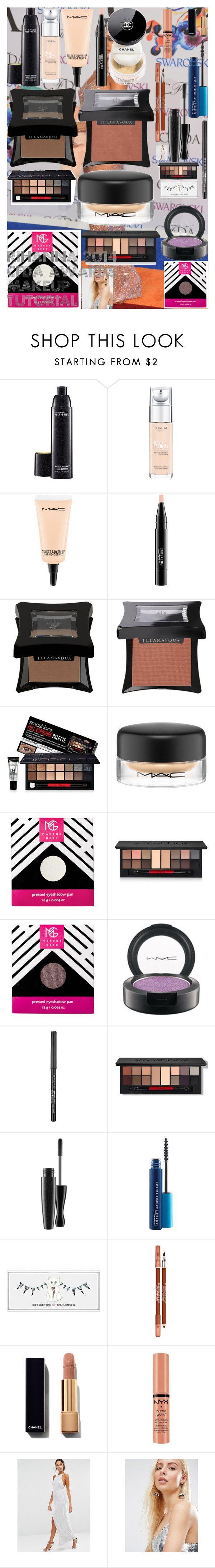 """Rihanna 2014 CFDA Awards Makeup Tutorial"" by oroartye-1 on Polyvore featuring beauty, MAC Cosmetics, L'Oréal Paris, Chanel, Illamasqua, Smashbox, Essence, shu uemura, Lancôme and NYX"