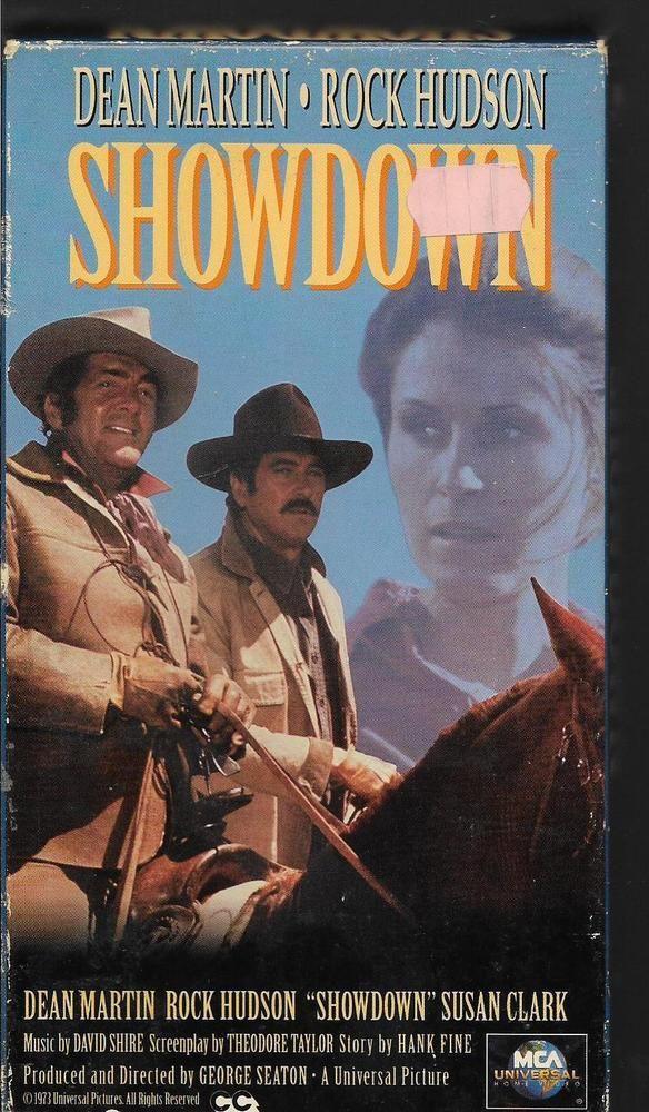 SHOWDOWN - Dean Martin, Rock hudson, Susan Clark western (VHS, Rare