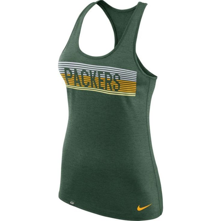 Nike Women's Green Bay Dri-FIT Touch Performance Green Tank Top, Size: Small, Team
