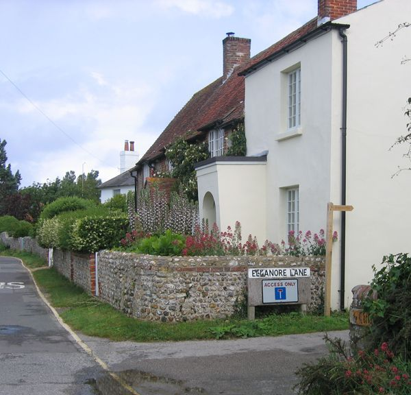 Ellanore Lane, West Wittering, leading down to the harbour...