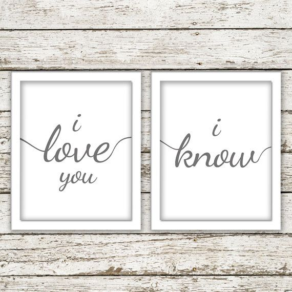 star wars han and leia wall art printable by SweetTeaAndACactus