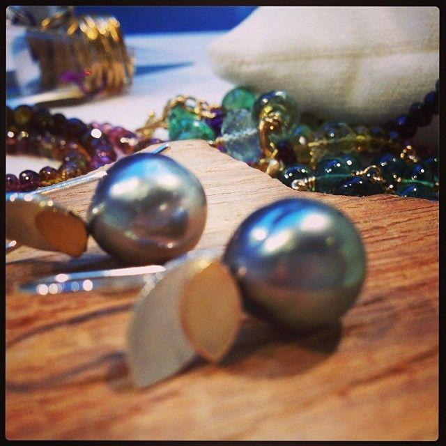 #earings #ørering #tahitiperler #perler #milasjewellery #milasjewellery