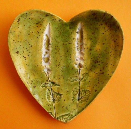 Ceramiczny świecznik serce, oczywiście ręcznie robiony
