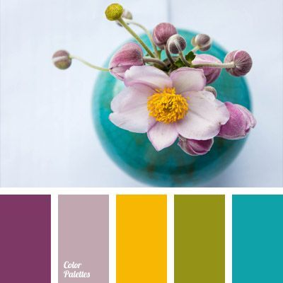 bright blue, bright salad green, bright yellow, color of green shoots, color of greenery, contrasting and pastel colors, light eggplant color, pale lilac, palette of spring, soft colors, sunny yellow, turquoise, violet and pink,