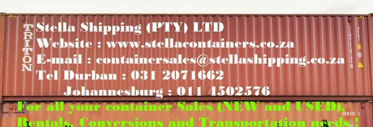 Stella Shipping (PTY) LTD // Container Sales, Rentals, Conversions and Transportation
