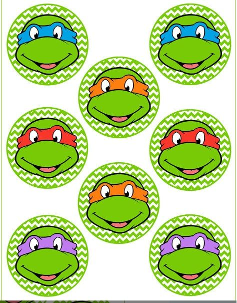 23 Best Images About Ninja Turtle Cupcake Toppers On Pinterest