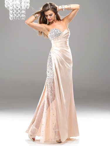 The ultimate combination of sparkle and sheen in this elegant dress from Flirt by Maggie Sottero.