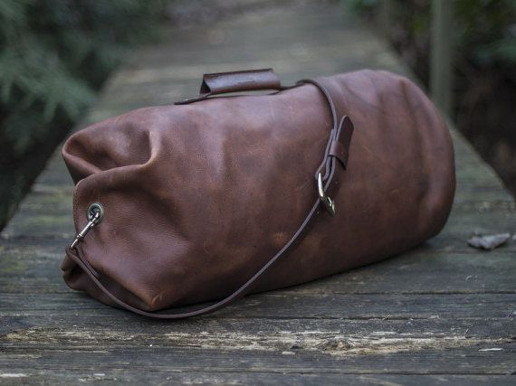 Leather Duffle Bag  The Gunnar Duffle  Military by Goforthgoods