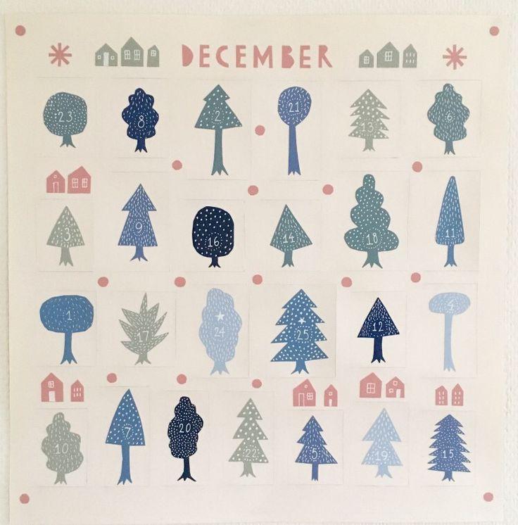 Calendar picture, December. Paper cut.
