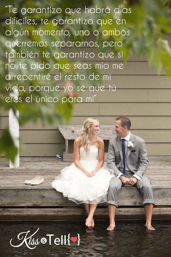 Amor, compromiso, matrimonio, boda, frases, kisstell | Kiss&Tell ...