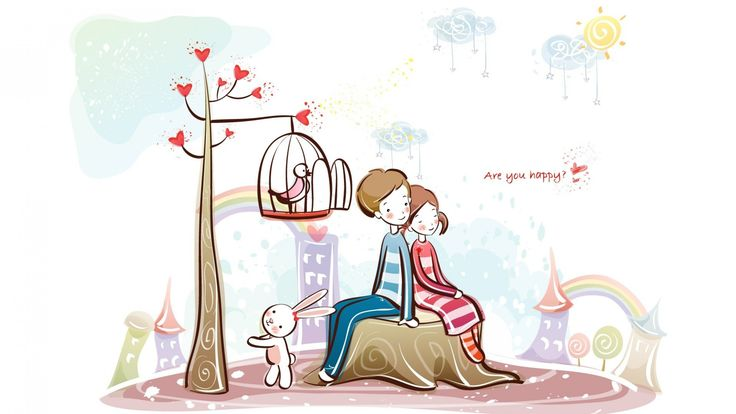 Image result for couple in bicycle cartoon