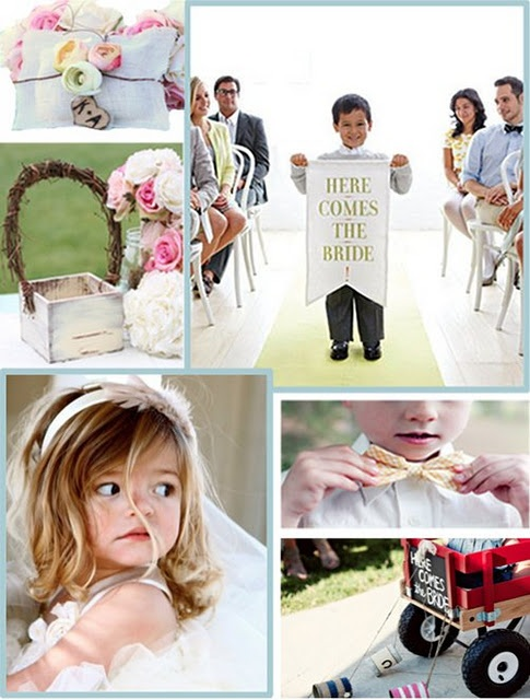 ring bearers and flower girls Inspiration board