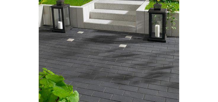 rechteck pflaster beton anthrazit 20 cm x 10 cm x 6 cm rechteck pflaster und anthrazit. Black Bedroom Furniture Sets. Home Design Ideas