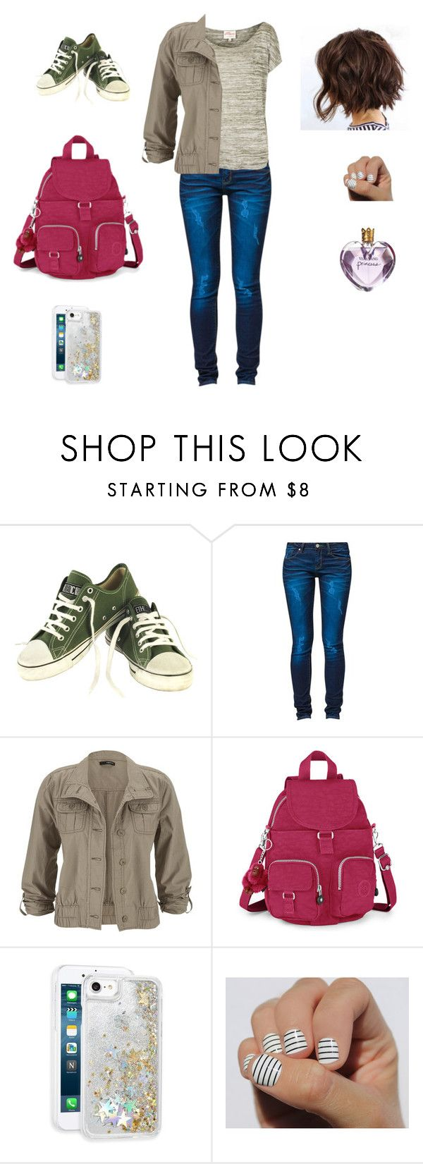 """Don't let the colours fade to grey."" by yuliana07 ❤ liked on Polyvore featuring Ethletic, One Green Elephant, maurices, Kipling, Skinnydip and Vera Wang"