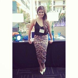 Simple leopard print skirt