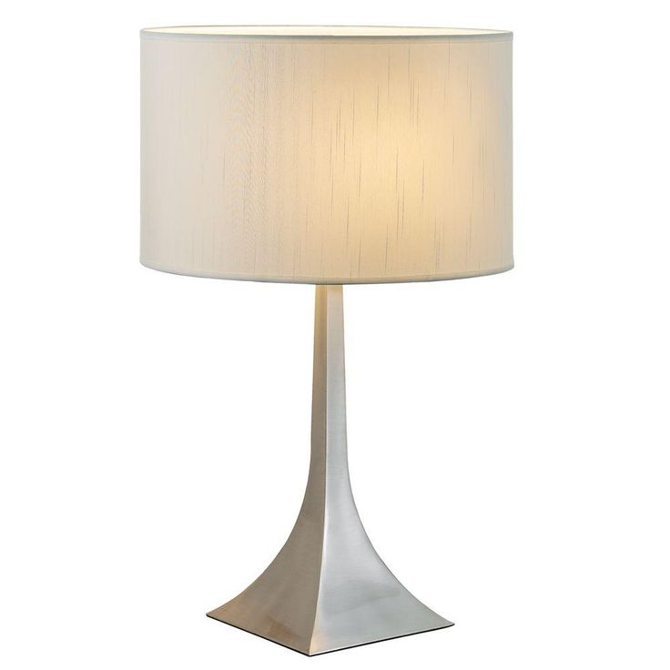 Adesso Luxor 25.5 in. Satin Steel Tall Table Lamp