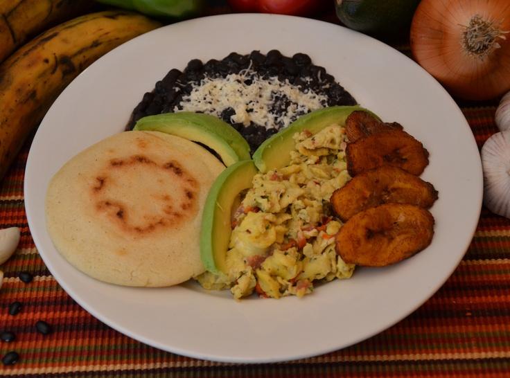 """""""Desayuno Venezolano"""" - Perico, which is a scramble of ... Desayuno Espanol Tipico"""