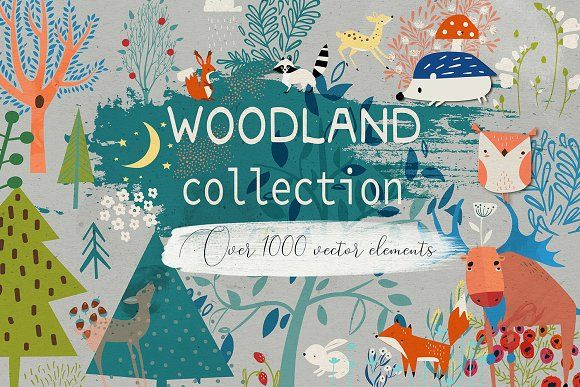 Woodland Collection By Eve Farb On Creativemarket