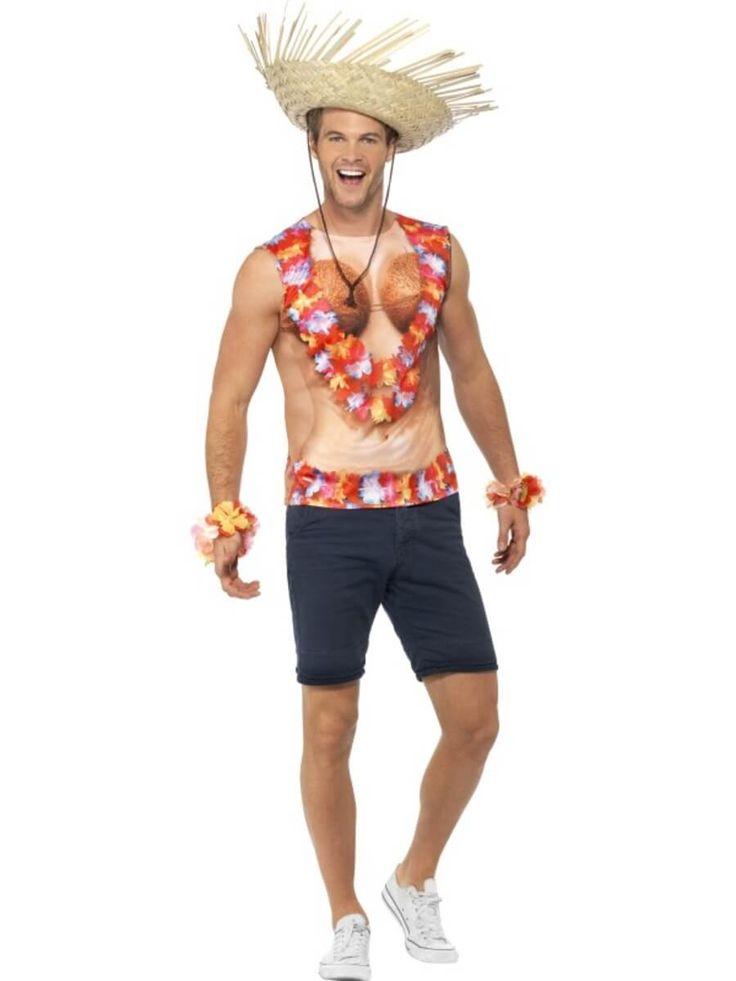 Camiseta disfraz de hawaiana para hombre | Comprar