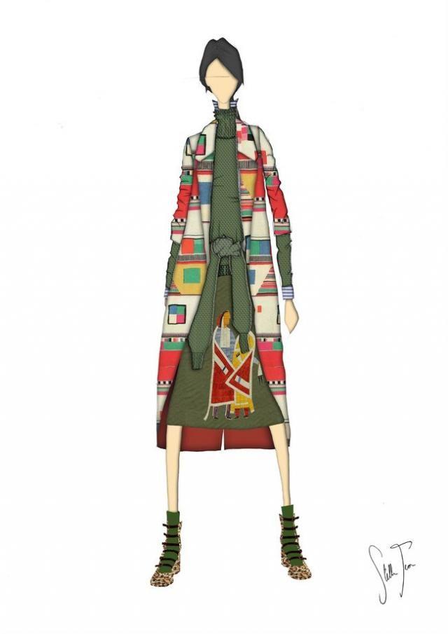 El estilo étnico en versión punto es posible gracias a colaboraciones como la de Benetton y Stella Jean